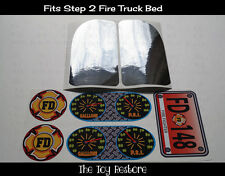 Replacement Decals Stickers fits Step 2 Fire Truck Toddler Bed Engine Firetruck