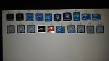 40 x  WINDOWS 7 i3 i5 Intel Nvidia AMD STICKER LOGO BADGE DECAL