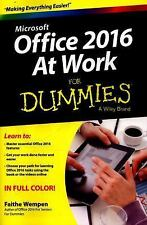 Office 2016 at Work for Dummies® by Faithe Wempen (2015, Paperback)