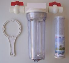 """10"""" Whole House clear stage filtration water system 3/4"""" thread + Carbon Filter"""