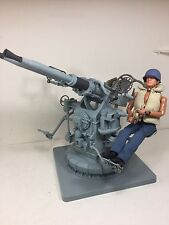 1/6 US NAVY 40mm TWIN BOFORS ANTI AIRCRAFT GUN+DRAGON GUNNER WW2 21ST HASBRO