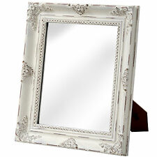 BAROQUE ANTIQUE WHITE TABLE MIRROR - TERRIFIC ADDITION TO YOUR HOME.