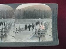 Stereoview Keystone View Company Pontoon Bridge In French Sector Of West Front O