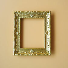 Dollhouse Miniature 1:12 Toy A Metal Large Gold Photo Frame Puppenhaus