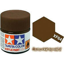 TAMIYA COLOR FLAT ACRYLIC PAINT XF-64 RED BROWN 10ml Free Shipping