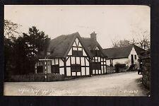 Barthomley near Crewe - White Lion Inn - real photographic postcard