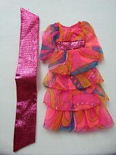 #3Q/VINTAGE BARBIE 3437 DANCING LIGHTS DRESS/WRAP/JAPAN SHOES!