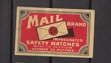 Ancienne  étiquette   allumettes  Belgique   A989  Mail Enveloppe 1