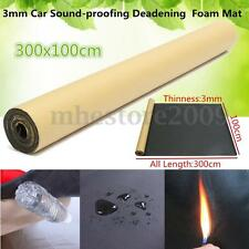 3mm Car Sound Proofing Deadening Insulation Foam Mat Acoustic Panel Roll 10x3FT