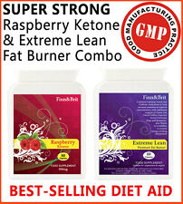FINN & BRIT SUPER-STRONG Rasberry Ketones Keytones PLUS Extreme Lean FAT BURNERS