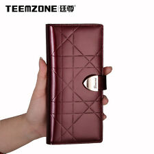 Women Lady Real Leather Clutch Wallet Bag Credit Card Cash Purse Holder Business