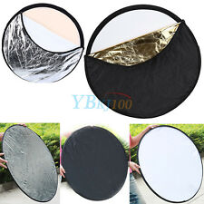 Handheld 5 in 1 Light Multi Collapsible Photo Reflector Diffuser Board Disc 24""