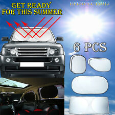6pcs/Set Car Sunshade Auto Window Visor Full Windshield 100%UV Sun Block Cover
