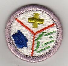 Emergency Preparedness (Green Cross) Merit Badge Type H Plastic Back (1980-2002)