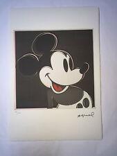 Andy Warhol Litografia 57 x 38 Arches France Timbro Secco e Timbro Galleria Arte