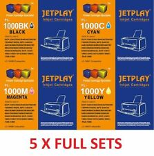 20 jetplay Cartuchos De Tinta Lc970 Lc1000 Lc960 Compatible Para Brother 5 Sets Completos
