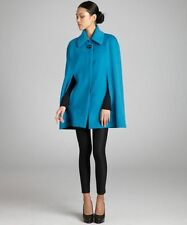 New $2195 Celine Alpaca Wool Blue Cape Jacket Coat 36-F4 Clearance