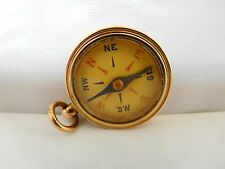 QUALITY ENGLISH VICTORIAN 9CT GOLD FOB COMPASS
