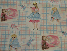 MOTHER MOM BABY DAUGHTER SON NURSERY GIRL BOY KID 100% Cotton Fabric OOP FQ
