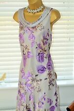 Very Feminine Jacques Vert Silk Devore Dress Size 14 Mother of the Bride
