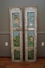 Folk Art Decorated Cupboard Doors by PA Artist Kosic Antique Birdhouse Shutters