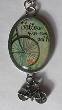 r Follow your Own Path bicycle CAR CHARM rear view mirror ornament ganz