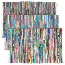 Large Chindi Area Rag Rug Recycled Multi-Color Woven Decor Bed Living Room 4x6