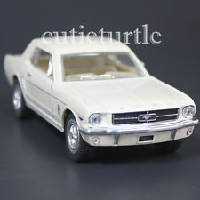 Kinsmart 1964 1/2 Ford Mustang 1:36 Diecast Toy Car Cream White