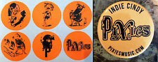 THE PIXIES Indie Cindy 2014 Ltd Ed NEW RARE 6 Stickers + Band Logo Pin Lot Indie