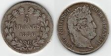 MONNAIE / ECU DE 5 FRANCS LOUIS PHILIPPE 1836 B @ ROUEN @ SILVER - ARGENT @ RARE