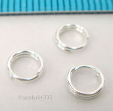 10x STERLING SILVER ROUND JUMPRING SPLIT JUMP RING 5mm 0.6mm 22GA #2238