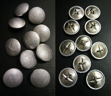 ✚2105✚ German Bundeswehr pebbled uniform buttons 22 mm 10 pieces MAKER MARKED
