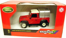 BRITAINS LAND ROVER DEFENDER 90 + CANOPY 1/32 SCALE DIECAST MODEL NEW & BOXED