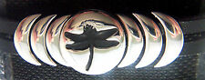 Epic Spirit Bracelets Wheeler Dragon Fly Leather & Pewter Clasp Magnetic wcb 715