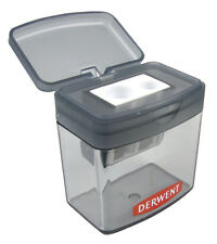 Derwent Two Hole Twin 2 Size Pencil Sharpener with Shaving Reservoir