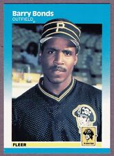 1987 Fleer Glossy - Barry Bonds - #604 - Rookie Card - Pittsburgh Pirates - NrMt