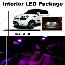For Kia Soul 2011-2013 Pink LED Interior Kit + Xenon White License Light LED