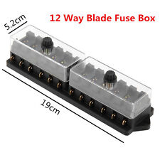 Durable Car Truck DC12V 12 Way Standard Blade Block Fuse Box Holder Circuit Kit