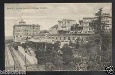 Cartolina - FRASCATI (Roma) Stazione e Palazzo De Cesari -VG 1927 Treno Ferrovia