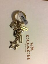 NWT COACH Limited Edition Pearl Star Loznege Charm Mix Key Ring Chain Fob $58(2)