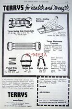 1959 TERRY'S Exercising Equipment ADVERT Rowing Machine etc - Original Print AD