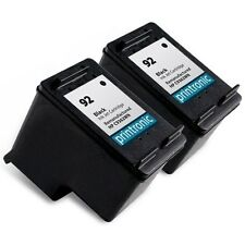 Reman HP 92 (C9362WN) Black Ink Cartridge for HP PhotoSmart C3180 C4180 2PK