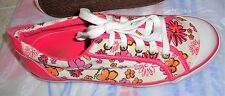 COACH BARRET CANVAS SNEAKERS TENNIS SHOES SHOES PINK & WHITE FLOORAL Size 8.5 B