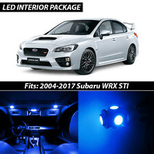 2004-2017 Subaru Impreza WRX STI Blue Interior LED Lights Package Kit