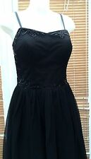 New NEXT Size 12, Tailored Black Dress, Womens, Embellished