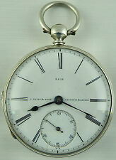 Antique silver fusee pocket watch J Flinn  London Not In Perfect Working Order