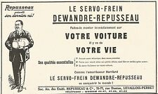 W8000 Le Servo-Frein Dewandre-Repusseau - Pubblicità del 1926 - Old advertising