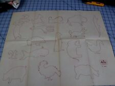 #0233 VTG ARTEX HAND  EMBROIDERY PAINTING TRANSFER- SEVERAL DESIGNS SHEETS