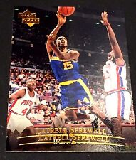 LATRELL SPREWELL 1995-96 Upper Deck ERROR Double Name Logo SCARCE #3 poss 1/1?