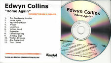 EDWYN COLLINS Home Again UK 12-trk watermarked/numbered promo test CD sealed